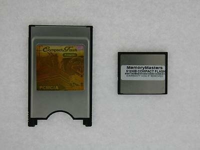512MB Compact Flash +PC card PCMCIA Adapter JANOME 512MB