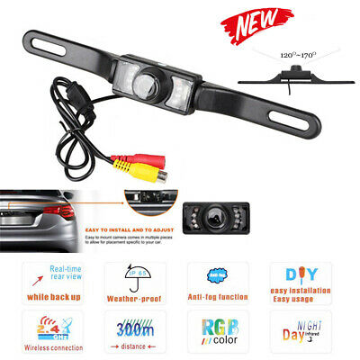 Car RearView Backup Camera Parking Reverse Back Up Camera Waterproof CMOS 7LED H