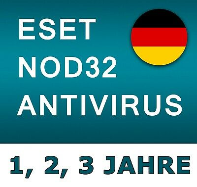 ESET Nod32 Antivirus 2019 / Vollversion - Alle Regionen / 1, 2, 3 Jahre