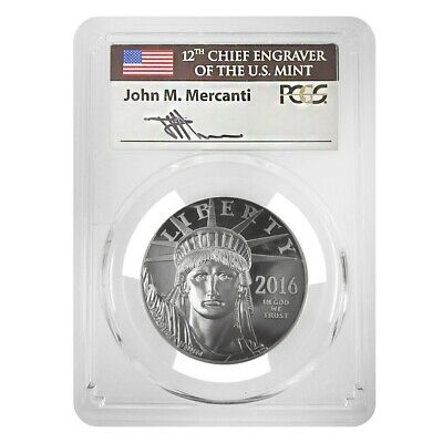2016-W 1 oz Platinum American Eagle Proof Coin PCGS PF 70 FDOI (John Mercanti