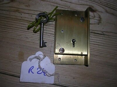 Brass Hobbs & Co. Cabinet Lock & Key (R24)