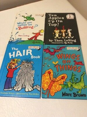 Cat In The Hat Reader Dr Seuss Beginner Books Bright Early Hair Apples Wings