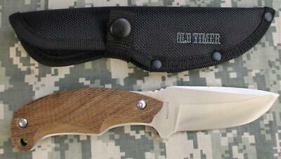Old Timer Copperhead Drop Point Fixed Blade Knife & Polyester Sheath 2141OTWNCP