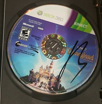 Xbox 360 Kinect Disneyland Adventures Disc Only Free Shipping!
