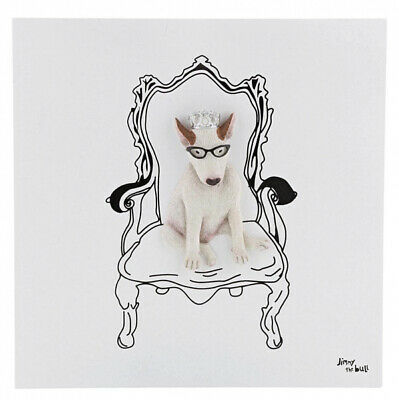 Jimmy The Bull Chien Terrier Art Mural Toile ' The King' 23cm A29618 Neuf