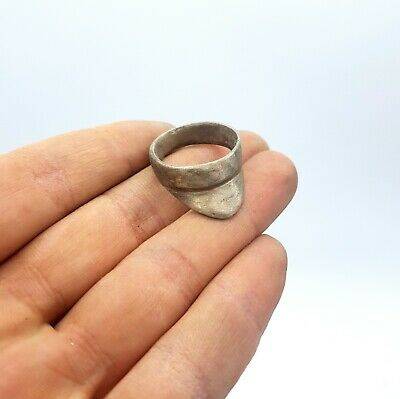 Amazing Roman Ca.200 Ad Silver Archaic  Archers Ring - Rare - Wearable Artefact
