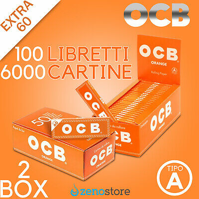 6000 CARTINE OCB ORANGE CORTE - 2 BOX 100 Libretti da 60 - ARANCIO - ARANCIONI