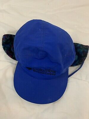 7b8a0ff17b20ea VTG COLUMBIA 5 Panel Nylon Insulated Hat With Fleece Ear Flaps XL Made in  USA