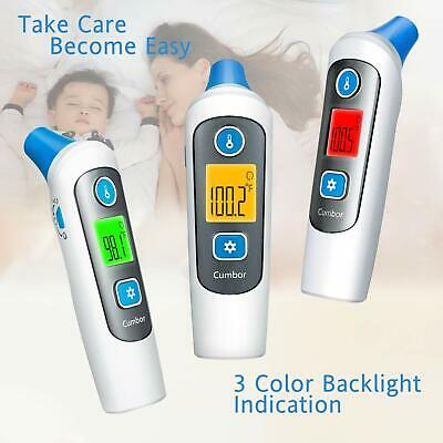 Digital LCD Baby Thermometer, Color Changing, Ear & Forehead, Infant Thermometer
