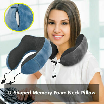 Hot!! U Shaped Memory Foam Travel Pillow Neck Support Head Rest Airplane Cushion