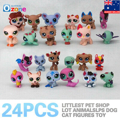 24Pcs Littlest Pet Shop Lot Animals LPS Dog Cat Figures Toy