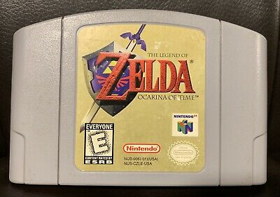 Legend of Zelda: Ocarina of Time Nintendo 64 1998 N64 Game Cartridge Authentic