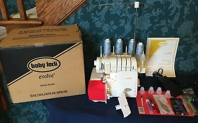 BABY LOCK EVOLVE Coverstitch Serger Model BLE8W with Original Box &  Accessories