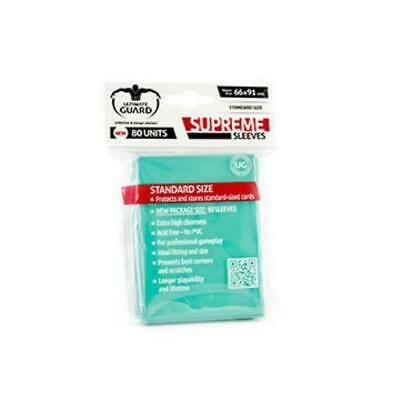 Ultimate Guard Standard Sleeves Supreme - Turquoise (10 Packs of 80) MINT