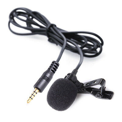 Lavalier Lapel Tie Clip on Condenser Microphones Wired Mic 20ft Audio Cable Tops