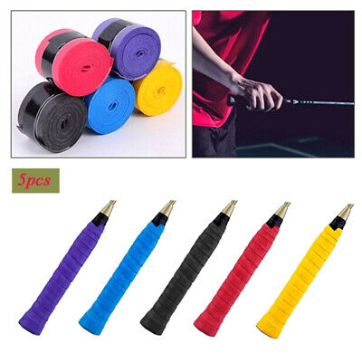5x Anti Slip Racket Over Grip Roll Tennis Badminton Squash Handle Tape RandomRR