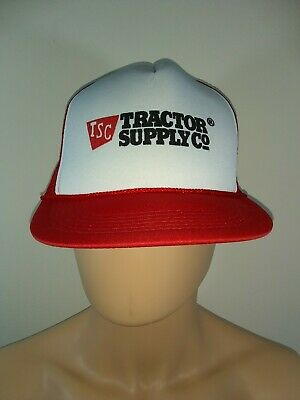 5e0a3f47ec0 TSC Tractor Supply Co Cap Hat Adult Snapback Trucker Mesh Red Poly Cotton