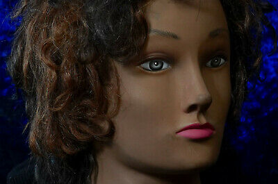 Hair Competition Shoulder Mannequin Head - Art - Female Display Store NAOMI Dark