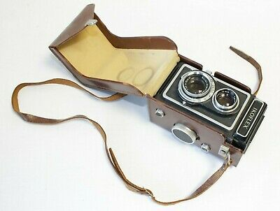 ZEISS IKON IKOFLEX CAMERA 1950's WITH LEATHER CARRY CASE - VINTAGE UNTESTED