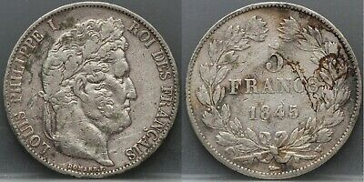 1845 Frankrijk - France - 5 Francs 1845 W  -  LOUIS PHILIPPE I° - KM# 749.13