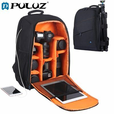Large Camera Backpack Bag Case for Canon Nikon Sony DSLR SLR Water-resistant USB
