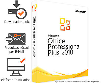 Microsoft Office 2010 Professional Plus - Vollversion - Word✔ Excel✔ Powerpoint✔