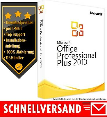 MS Office 2010 Professional Plus - Vollversion - 1PC✔ Produktkey per E-Mail✔