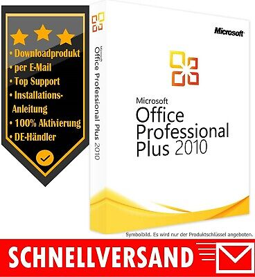 MS Office 2010 Professional Pluss - Vollversion - 1PC✔ Produktkey per E-Mail✔