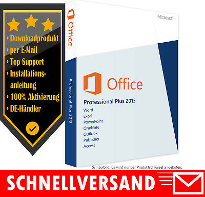 MS Office 2013 Professional Plus - Vollversion - Microsoft Office 2013 PP Key ✔