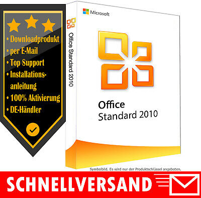 MS Office 2010 Standard - Vollversion - 1PC✔ Produktkey per E-Mail✔ Office 2010