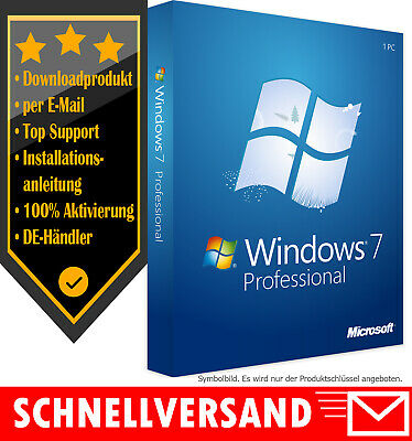 MS Windows 7 Professional [32 & 64 Bit] OEM Produktkey per E-Mail✔Win 7 Pro OEM