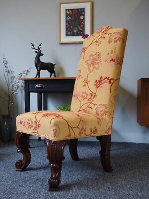 Antique Victorian Hall, Nursing Chair Pretty Floral Fabric UK DELIVERY AVAILABLE