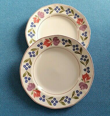 """Adams  *Old Colonial* Two 10.25"""" Dinner Plates    *Excellent Used  Condition #"""