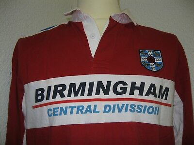 Ancien POLO MAILLOT BIRMINGHAM CENTRAL DIVISSION ENGLISH ICE HOCKEY ASSOCIATION