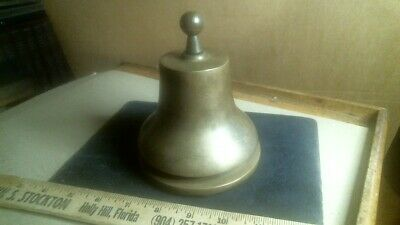 Solid Brass Signal Desk Bell Hammer Gong antique vintage nautical maritime NYSE