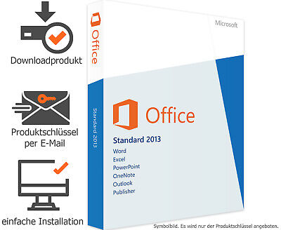 Microsoft Office 2013 Standard - Vollversion - Word✔ Excel✔ Powerpoint✔