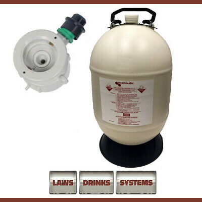 30 Litre Beer Line Cleaning Bottle Complete with S-Type Top (Sankey)