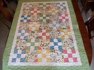 "Country/Farmhouse/Baby/Toddler Quilt/ 39"" x 50"""