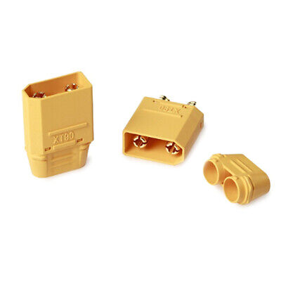 2 pairs XT90 battery connector set 4.5mm male gold plated banana plug FD