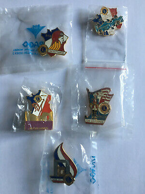Lot de 5 gros pin's Coq France Révolution Formule 1 LIONS CLUB INTERNATIONAL