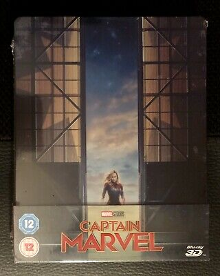 Captain Marvel (3D/2D Blu-ray discs, 2019) Pre-order UK Steelbook SEALED