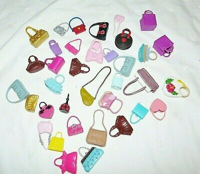 Barbie Doll Purse Accessories Hard Rubber Purses Lot of 37