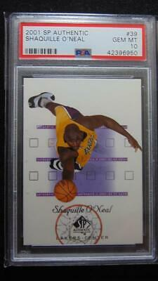 2001 Upperdeck SP Authentic Shaquille O'Neal Lakers Basketball 39 PSA 10