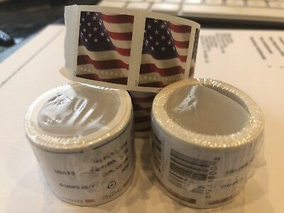 *New & Sealed* (1 Roll) 100 USPS Forever Postage Stamps US Flag Coil