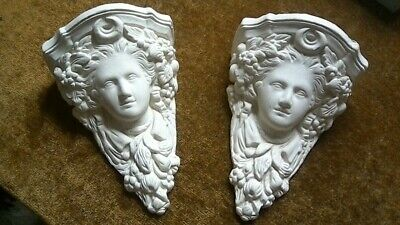 Two salvaged plaster Corbels.