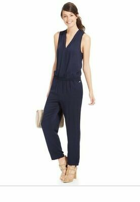 NEW TOMMY HILFIGER RED Sleeveless Vneck Jumpsuit Womens 6/8 Romper Pants NWT