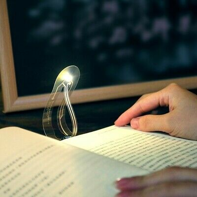 Mini Book Light Ultra Bright Bookmark Night Lamp Flexible Creative LED Book