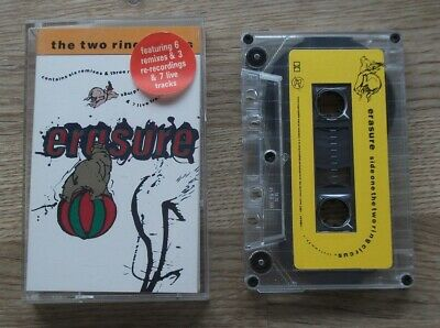ERASURE - The Two Ring Circus - UK Cassette tape album - play tested  LCSTUMM 35