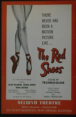 The Red Shoes Vintage 1948 Original Movie  Seat Reservation Form  Selwyn Theatre