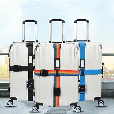 Cross Luggage Strap Adjustable Travel Accessories Suitcase Baggage Packing Belt
